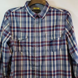 AMERICAN RAG LONG SLEEVE BUTTON UP SHIRT SLIM  FIT